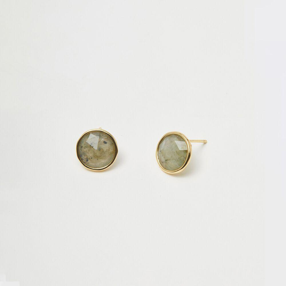 Gorjana Jewelry Gold Labradorite Stud Earrings, Olivia Studs