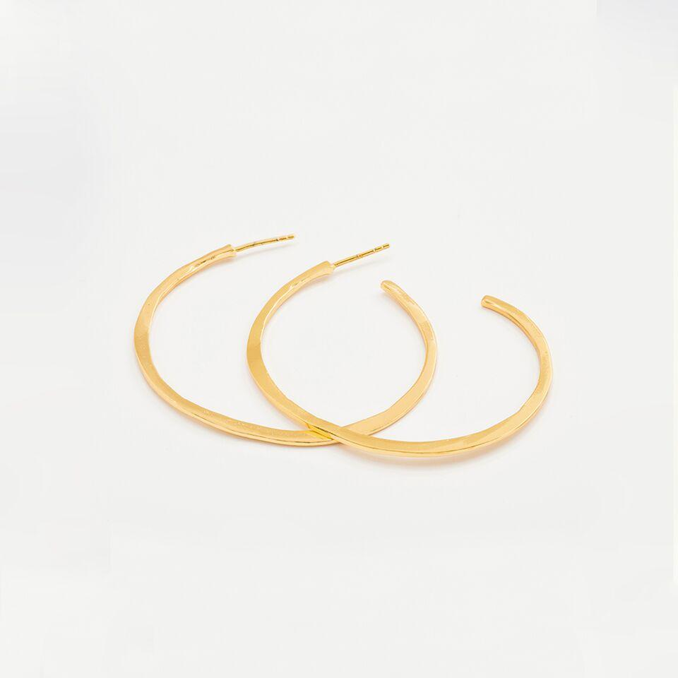 Gorjana Jewelry Arc Large Hoops, Gold Hoops, Hoop Earring
