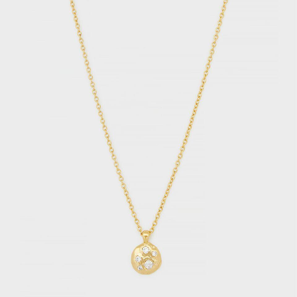 Gorjana Jewelry Gold Necklace, Collette Circle Adjustable Necklace