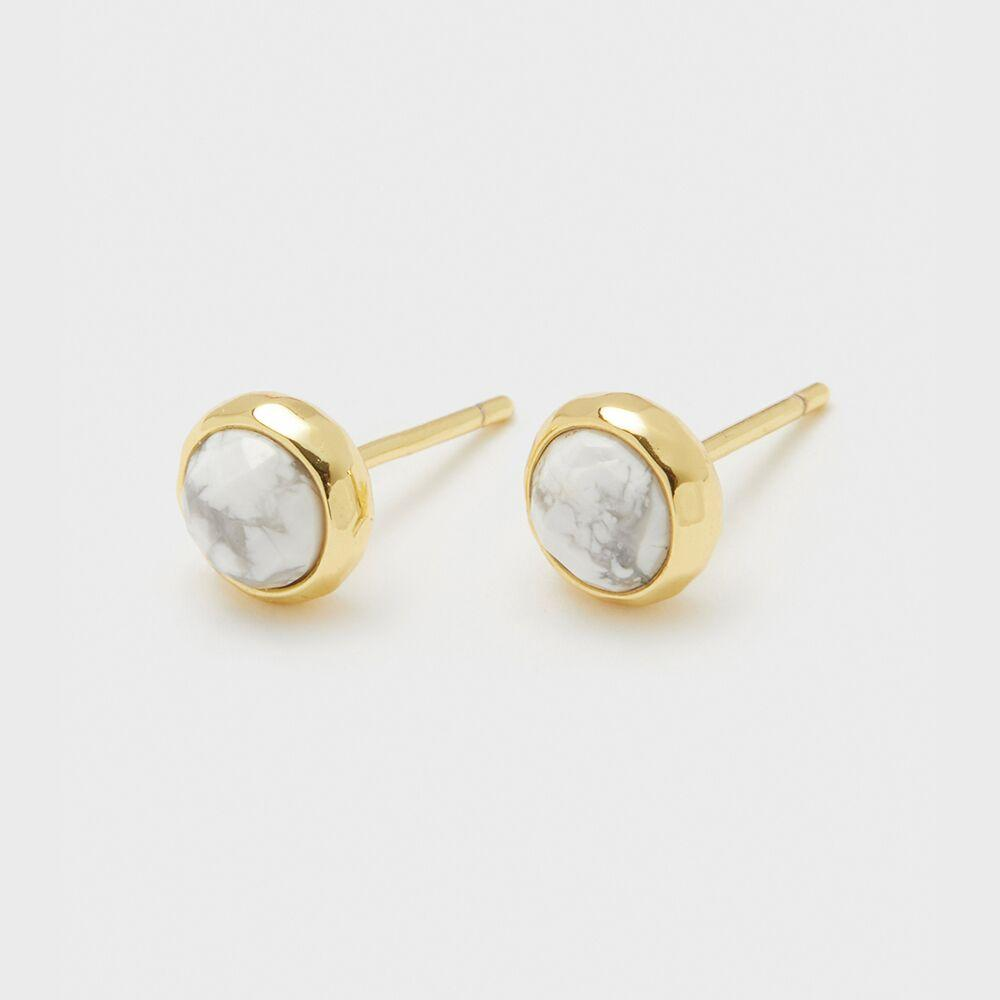 Gorjana Jewelry Power Gemstone Studs for Calming