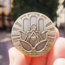 Load image into Gallery viewer, Be Here Now Mantra Medallion