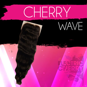 Cherry Wave Lace Closure - Electric Cherry