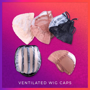 Breathable Wig Cap - Electric Cherry