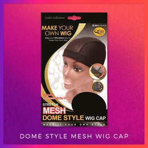 Mesh Dome Style Wig Cap - Electric Cherry