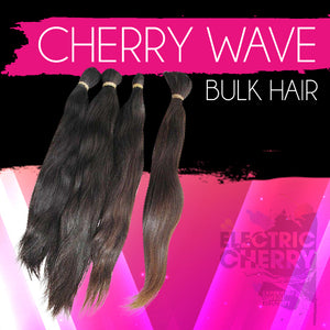 Cherry Wave Bulk (No Weft Hair) - Electric Cherry