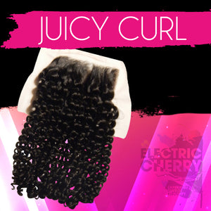 Juicy Curl Lace Closure - Electric Cherry