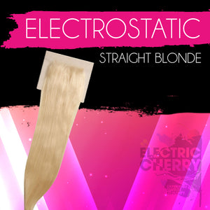 Blonde Electrostatic Straight Closure - Electric Cherry