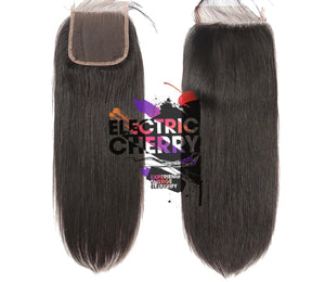 Electrostatic Straight  Lace Closure - Electric Cherry