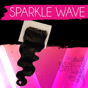 Sparkle Wave Lace Closure - Electric Cherry