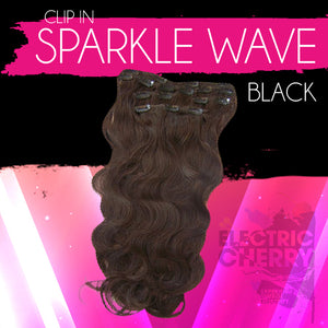 Sparkle Wave Clip-Ins - Electric Cherry