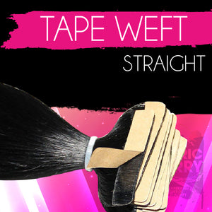 Electrostatic Straight Tape Weft - Electric Cherry