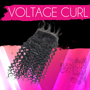 Voltage Curl Lace Closure - Electric Cherry