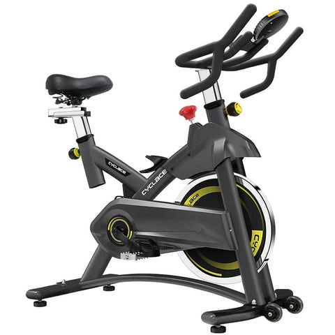 Indoor Exercise Bikes Stationary - Cycling Bike with Adjustable Resistance and LCD Monitor for Home Exercise - FEIERDUN