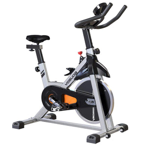 Cyclace Indoor Cycling Bike - Cycle Bike with LCD Monitor & Comfortable Seat Cushion - FEIERDUN