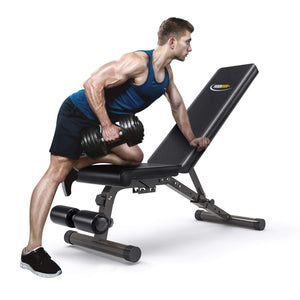 FEIERDUN Adjustable Weight Bench, Workout Bench with Incline & Decline, Flat & Foldable Bench - FEIERDUN