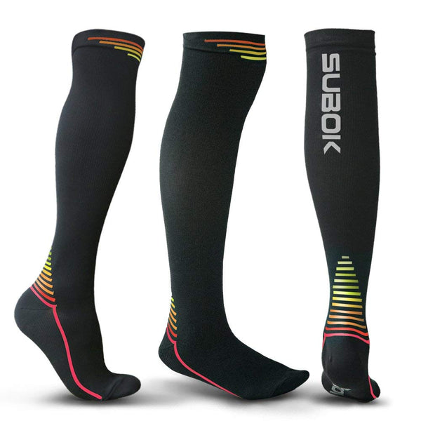 Graduated Compression Socks for Men & Women, Flight, Nurses, Pregnancy, Sport - FEIERDUN