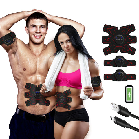FEIERDUN Belt Rechargeable Ultimate Trainer Belt for Men & Women - Portable Abdominal Muscle Trainer Toner Toning Belt - FEIERDUN
