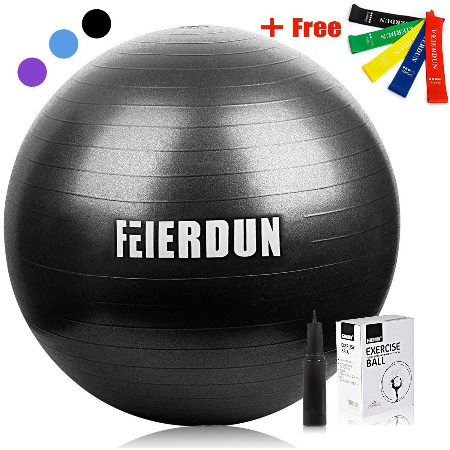 Exercise Ball ,Thick Anti-Burst Yoga ball - FEIERDUN