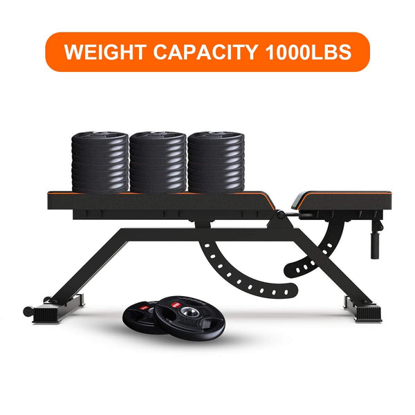 Adjustable Weight Bench Flat Utility Workout Bench