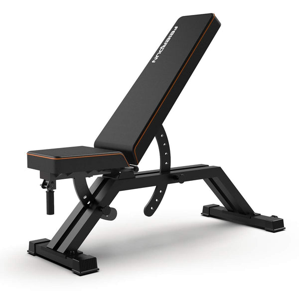 Adjustable Weight Bench Flat Utility Workout Bench - FEIERDUN