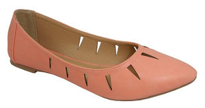 Coral Julie Cut Out Flat - Hustle & Hunee