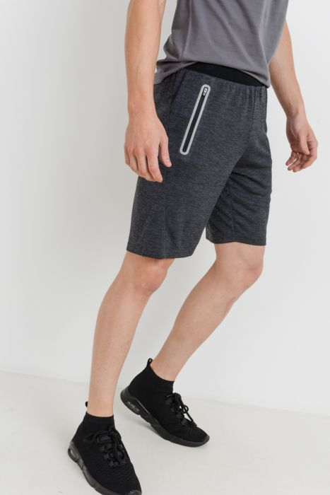 Men's Athletic Shorts with Zippered Pockets