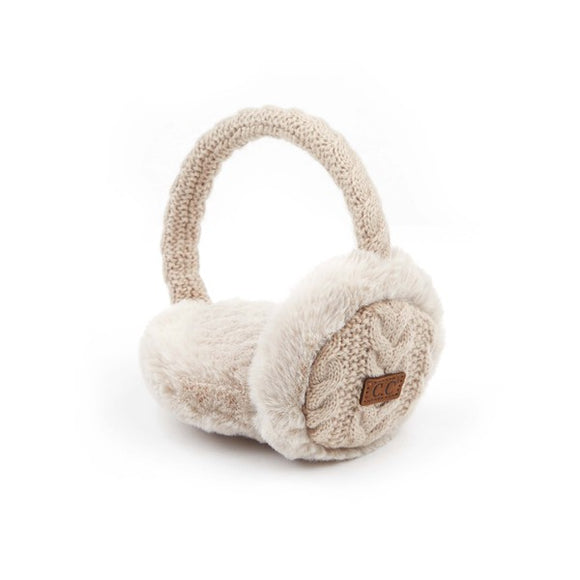 CC Earmuffs with Faux Fur Lining - Hustle & Hunee