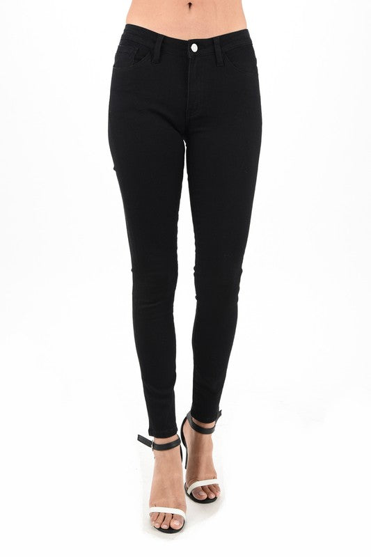 Geena - Ultrasoft Stretchy Black Jeans - Hustle & Hunee