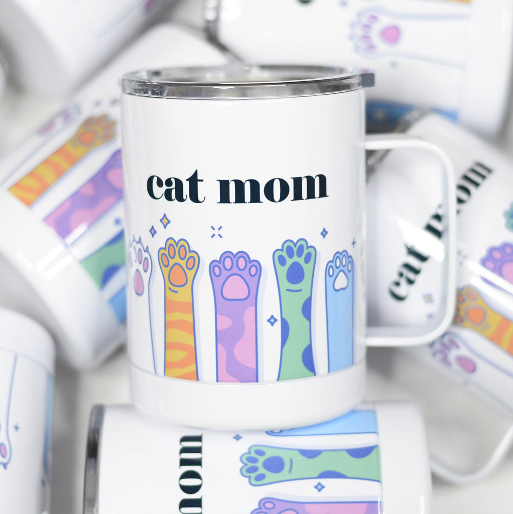 Cat Mom  - Stainless Steel Mug - Hustle & Hunee