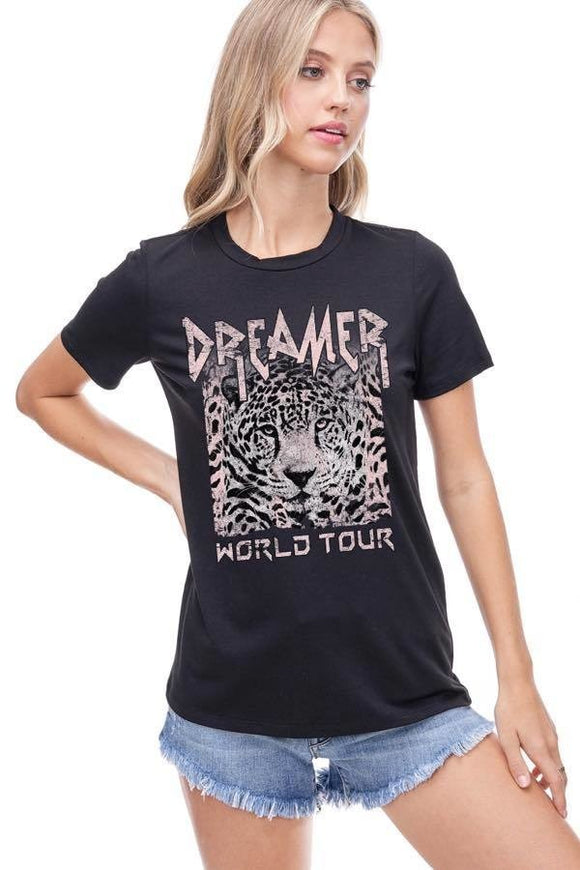 Dreamer World Tour Distressed Graphic Tee