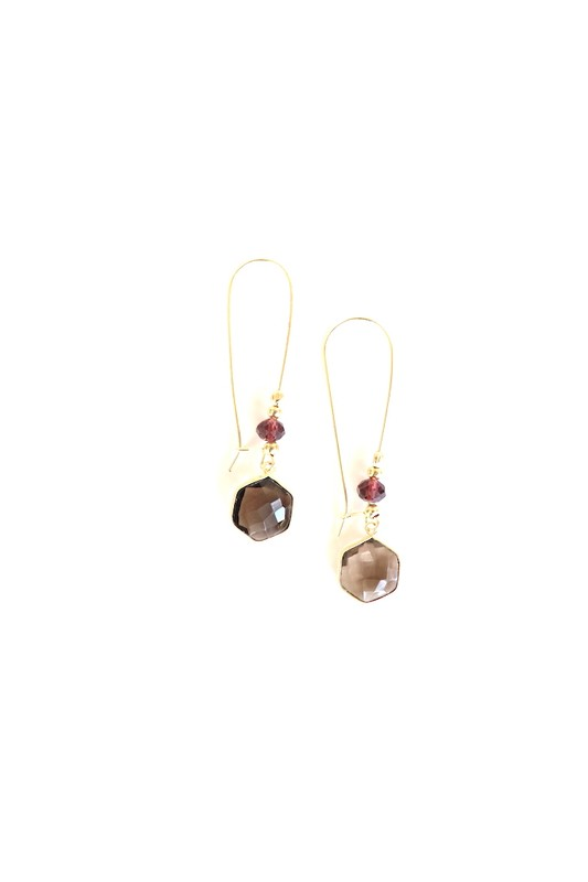 Natural Stone Dangle Earrings - Hustle & Hunee