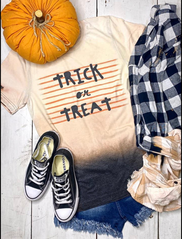 Trick or Treat Dip Dye Graphic Tee