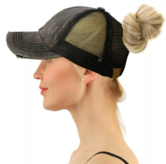 CC Criss Cross Hat - Black - Hustle & Hunee
