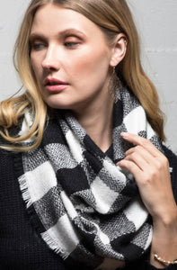 Buffalo Checkered Infinity Scarf - Hustle & Hunee