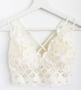 Sweetheart Bralette - White - Hustle & Hunee