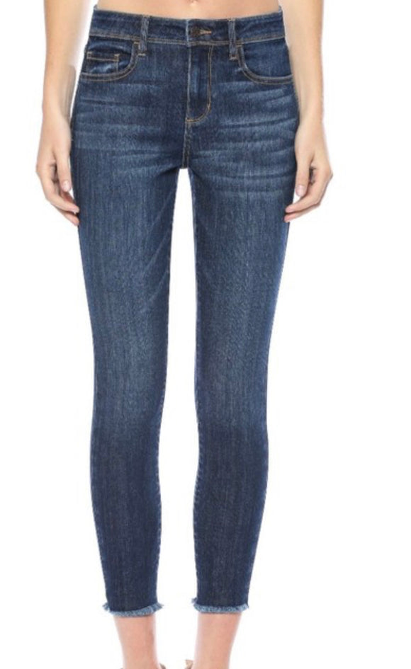 The Ashley - Super Stretch Mid Rise Jeans - Hustle & Hunee