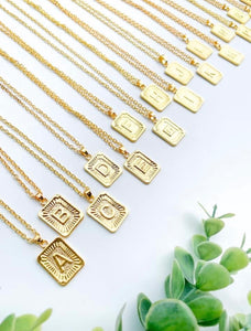 Initial Medallion Necklace - Hustle & Hunee