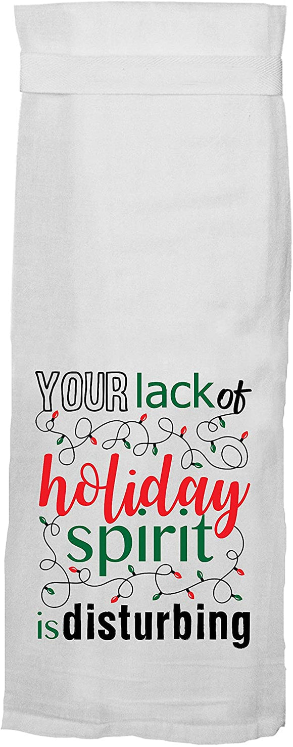 Lack of Holiday Spirit Kitchen Towel