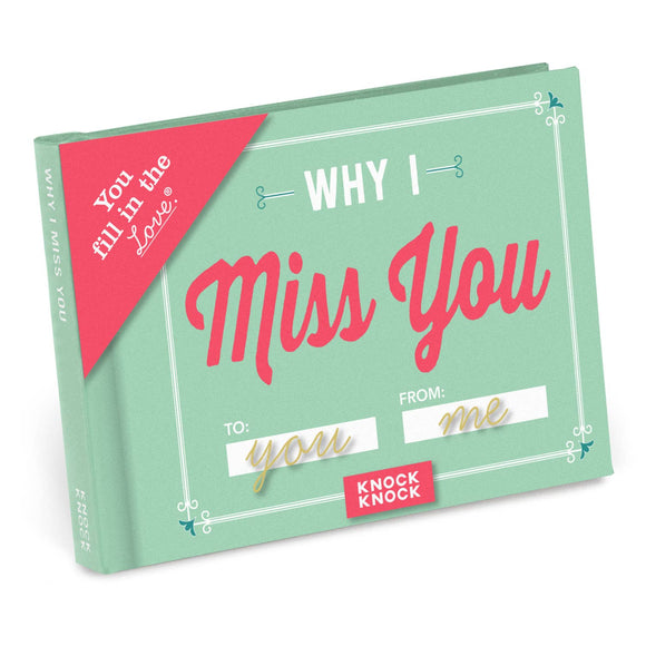 Why I Miss You Fill in the Love Gift Book - Hustle & Hunee