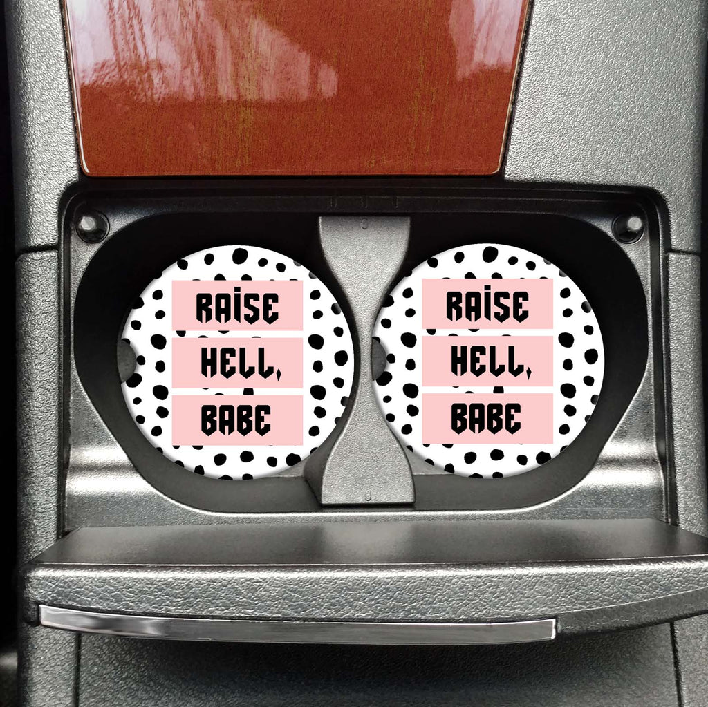 Raise Hell Babe - Coasters on the Go - Hustle & Hunee