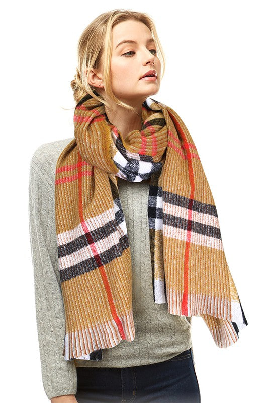 Soft Plaid Check Scarf - Hustle & Hunee