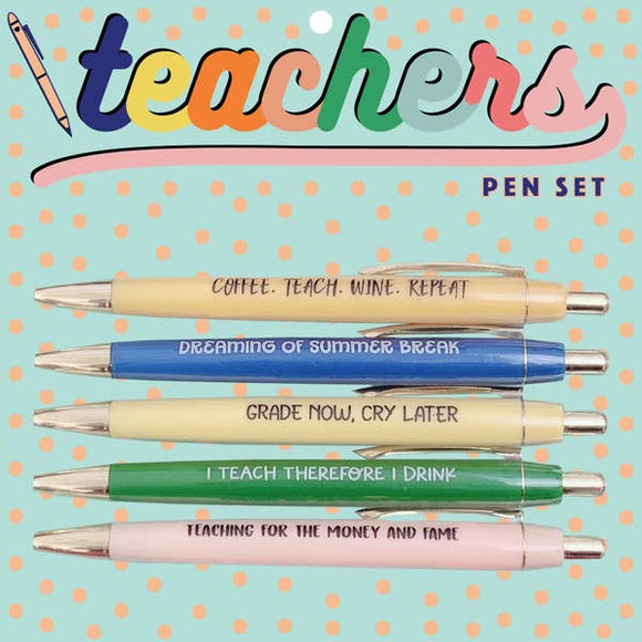 Teachers Pen Set - Hustle & Hunee