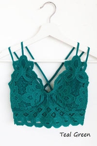 Sweetheart Bralette - Teal Green - Hustle & Hunee