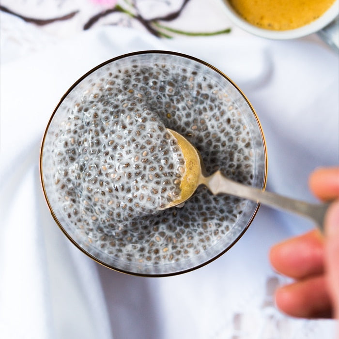 Gluten Free Chia Pudding With Almond Butter