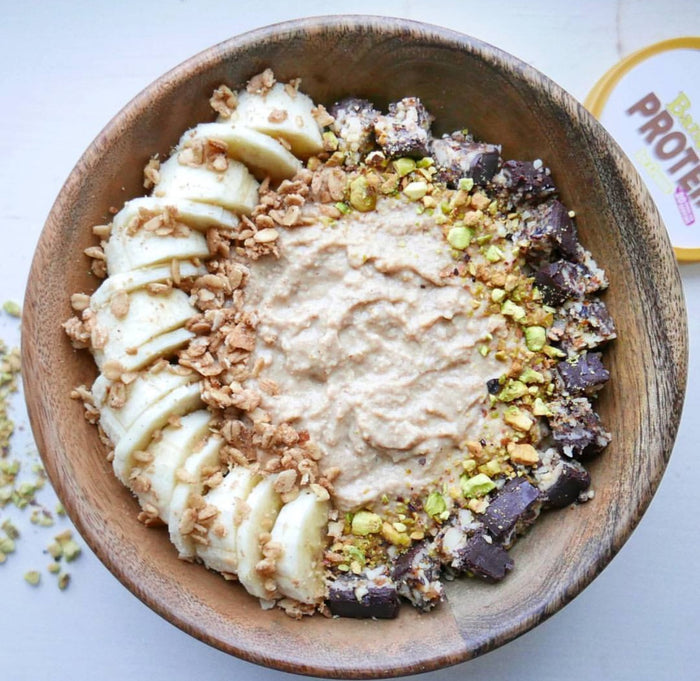 Wheyhey Banoffee smoothie bowl