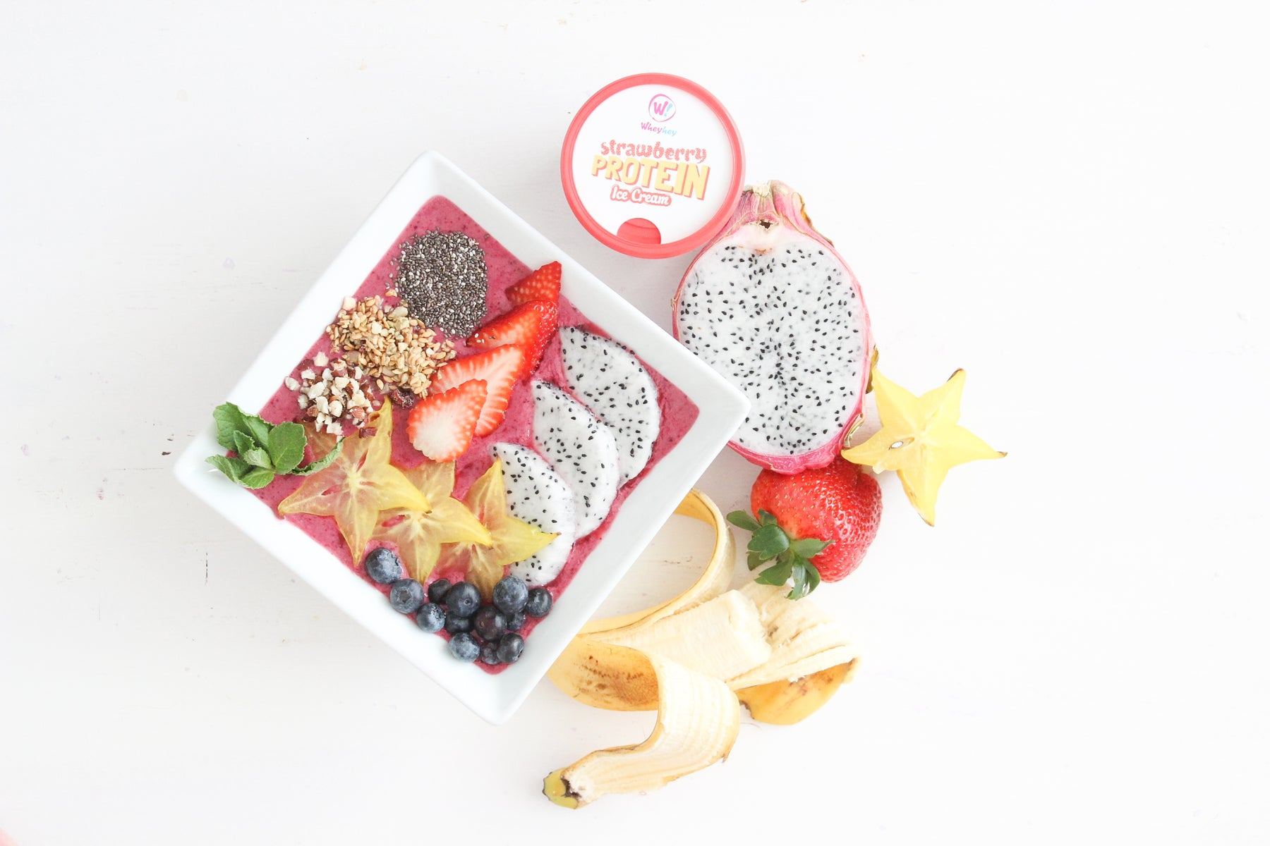 Wheyhey Exotic Forest Fruit Smoothie Bowl