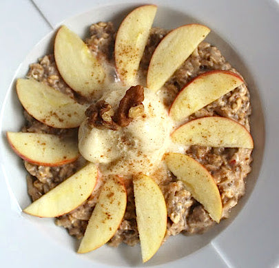 Spiced Apple Protein Overnight Oats