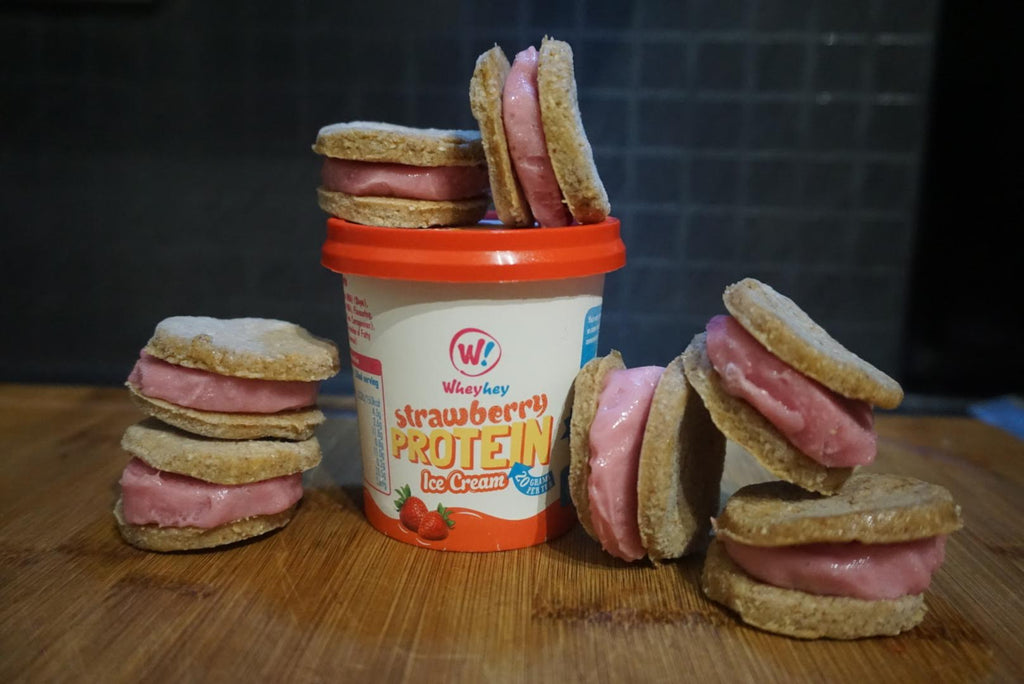 Peanut Butter & Jelly ice cream sandwiches!