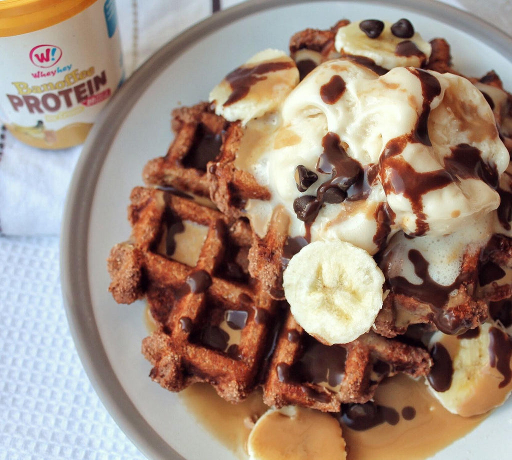 Banoffee Chocolate Waffles!