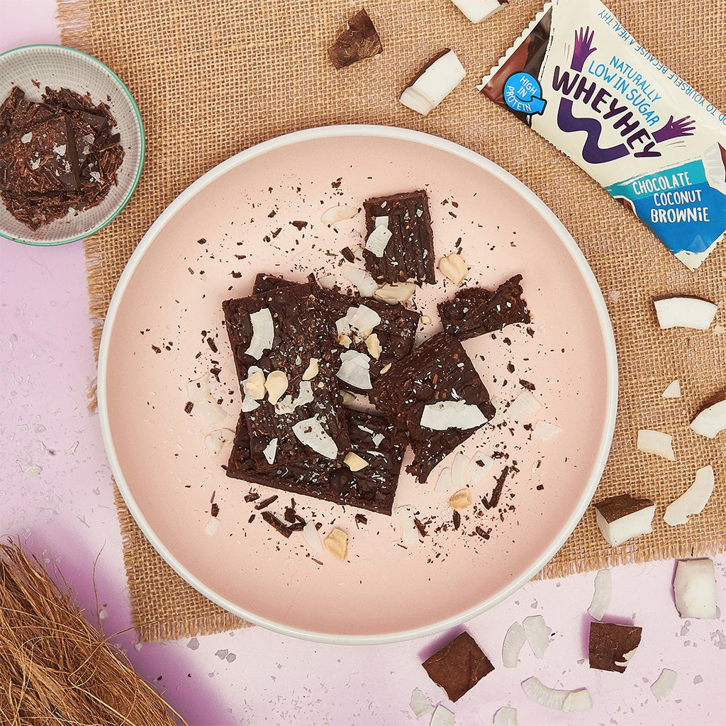 Naturally Low In Sugar | Chocolate Coconut Brownie | Wheyhey